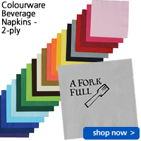 Colourware Beverage Napkins - 2-ply