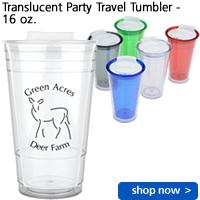 Translucent Party Travel Tumbler - 16 oz.