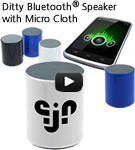 Ditty Bluetooth Speaker with Micro Cloth
