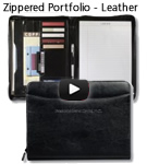 Zippered Portfolio – Leather