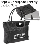 Sophia Checkpoint-Friendly Laptop Tote