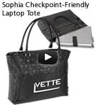 Sophia Checkpoint-Friendly Laptop Tote