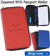 Zippered RFID Passport Wallet