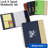 Lock It Spiral Notebook Set