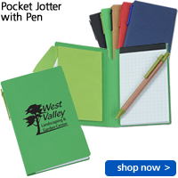 Pocket Jotter with Pen