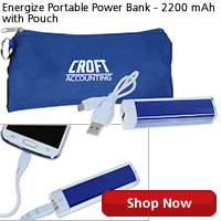 Energize Portable Power Bank - 2200 mAh with Pouch