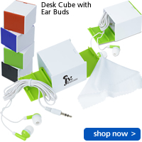 Desk Cube with Ear Buds
