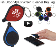 Pin Drop Stylus Screen Cleaner Key Tag name=