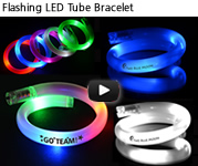 Flashing LED Tube Bracelet