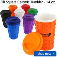 Sili Square Ceramic Tumbler - 14 oz.