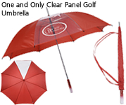 One and Only Clear Panel Golf Umbrella