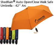 "ShedRain® Auto Open/Close Walk Safe Umbrella - 42"" Arc"