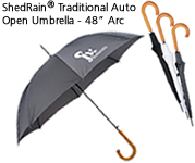 "ShedRain® Traditional Auto Open Umbrella - 48"" Arc"