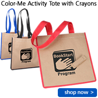 Color-Me Activity Tote with Crayons