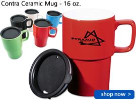Contra Ceramic Mug - 16 oz.