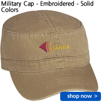 Military Cap - Embroidered - Solid Colors