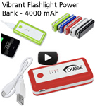Vibrant Flashlight Power Bank - 4000 mAh