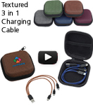 Textured 3 in 1 Charging Cable