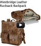 Westbridge Leather Rucksack Backpack