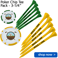 Poker Chip Tee Pack - 3-1/4""