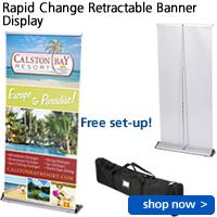 Rapid Change Retractable Banner Display