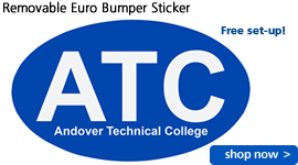 Removable Euro Bumper Sticker
