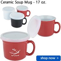 Ceramic Soup Mug - 17 oz.
