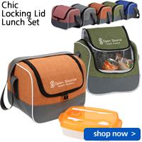 Chic Locking Lid Lunch Set