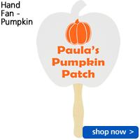 Hand Fan - Pumpkin