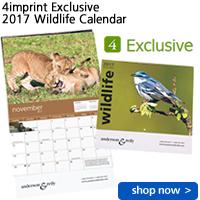 4imprint Exclusive 2017 Wildlife Calendar