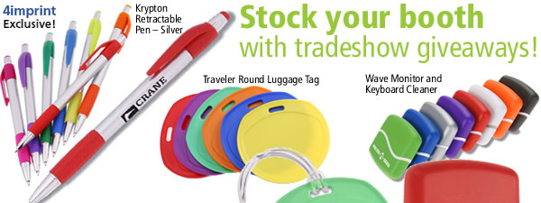 Stock your booth with tradeshow giveaways!