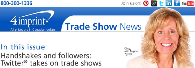 Handshakes and followers: Twitter takes on trade shows