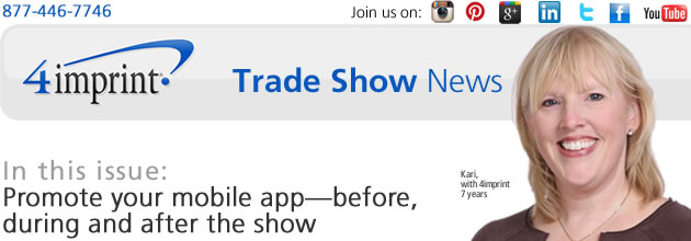Promote your mobile app—before, during and after the show