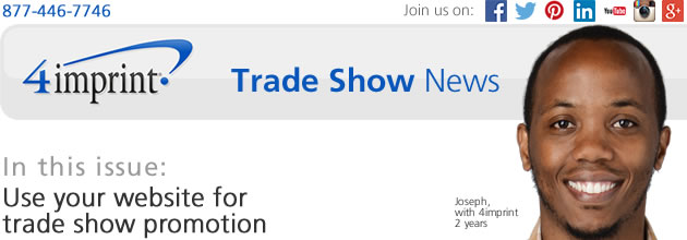 Use your website for trade show promotion