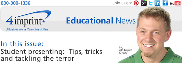 Student presenting: Tips, tricks and tackling the terror