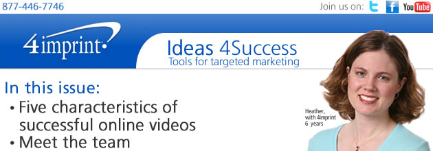 Five characteristics of successful online videos