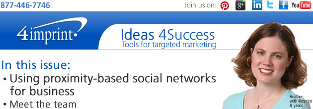 Using proximity-based social networks for business