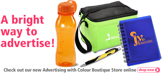 A bright way to advertise! Check out our new Advertising with Colour Boutique Store online!