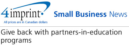 Small Business News: Give back with partners-in-education programs