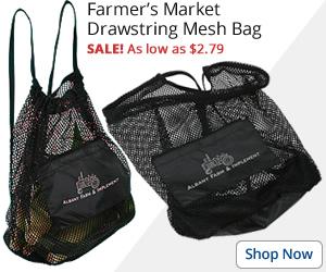 Farmer's Market Drawstring Mesh Bag