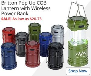 Britton Pop Up COB Lantern with Wireless Power Bank