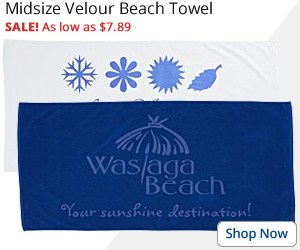 Midsize Velour Beach Towel