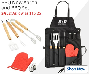BBQ Now Apron and BBQ Set