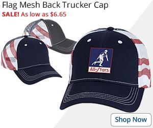 Flag Mesh Back Trucker Cap